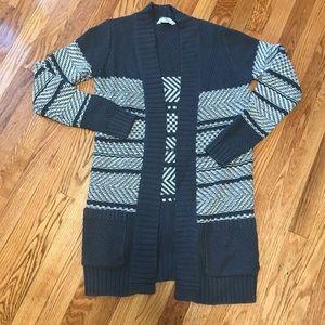 Cute pattern open front  sweater